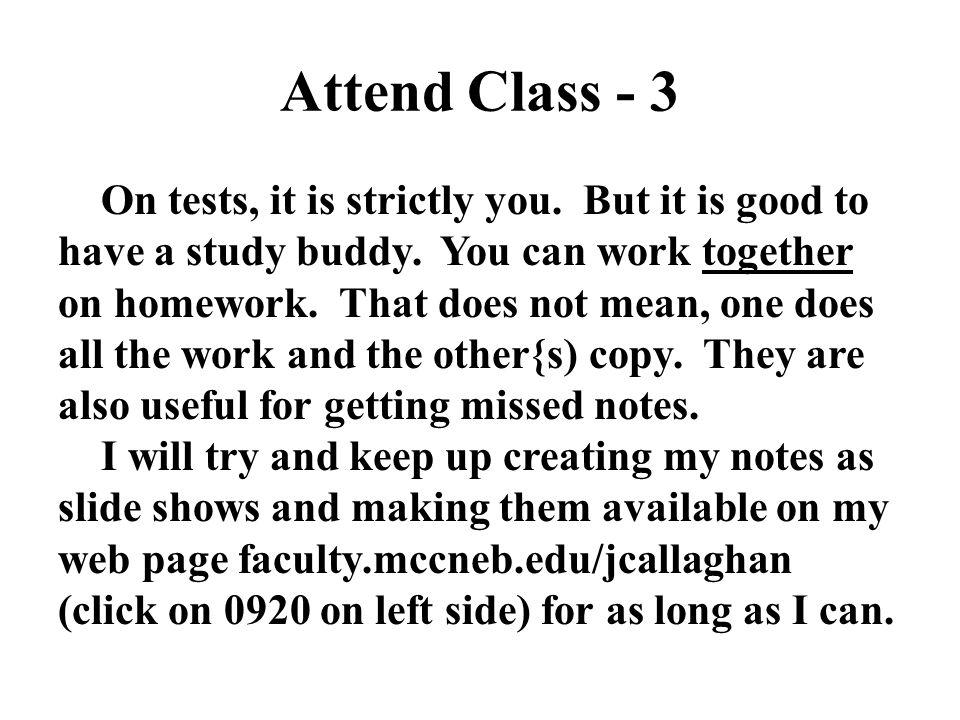 Attend Class - 3