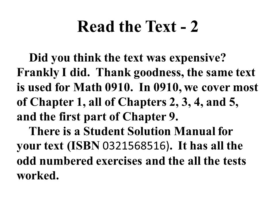 Read the Text - 2