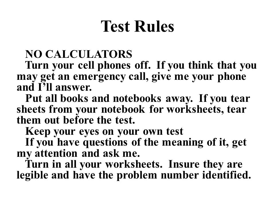 Test Rules