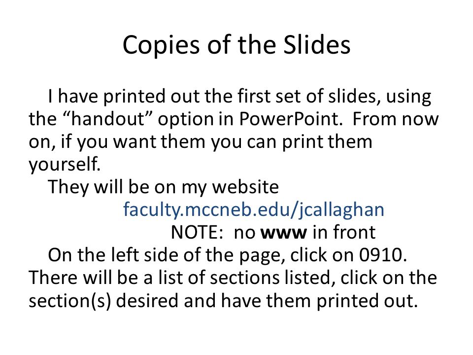 Copies of the Slides