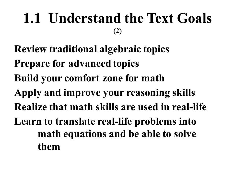 1.1 Understand the Text Goals (2)