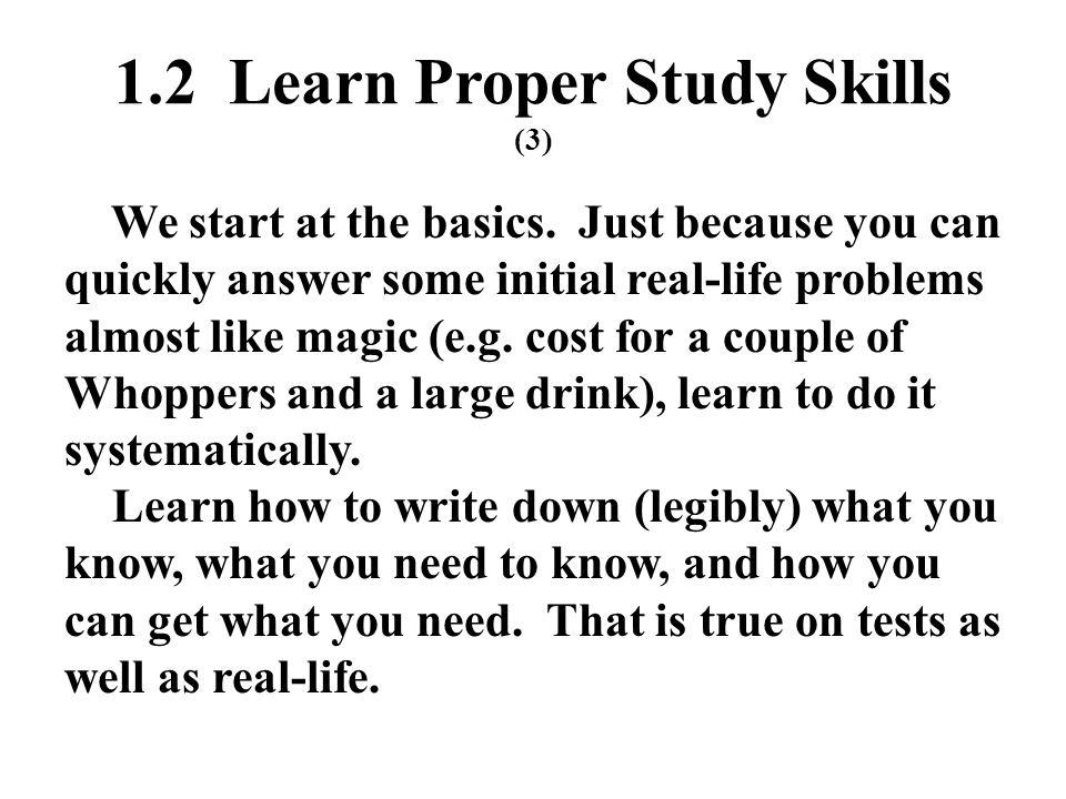 1.2 Learn Proper Study Skills (3)
