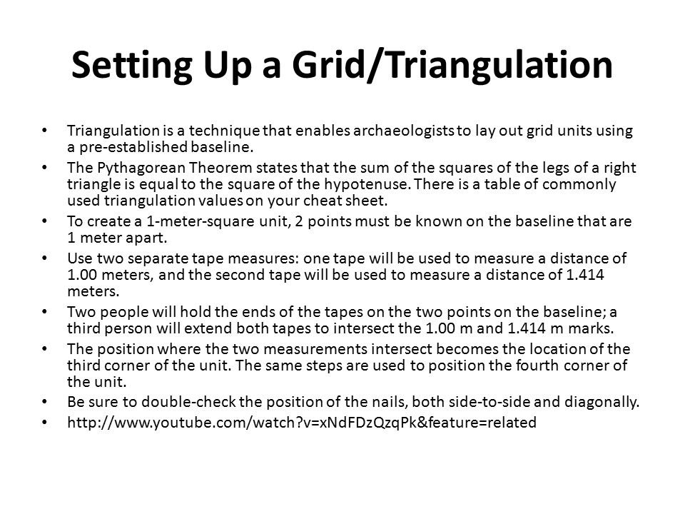Setting Up a Grid/Triangulation