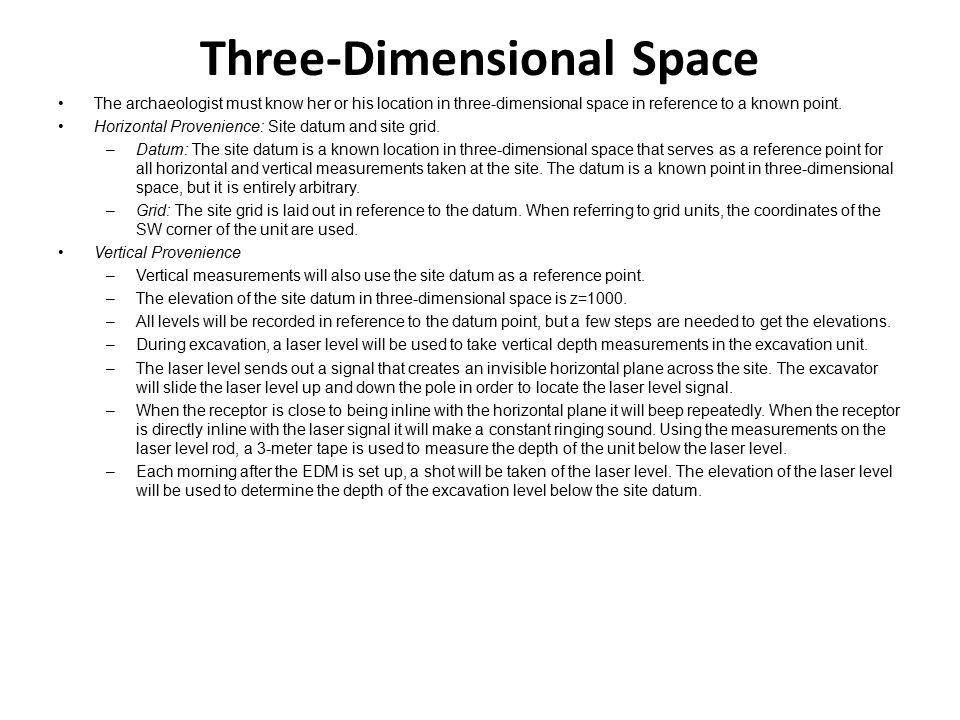 Three-Dimensional Space