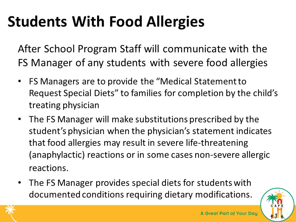 Students With Food Allergies
