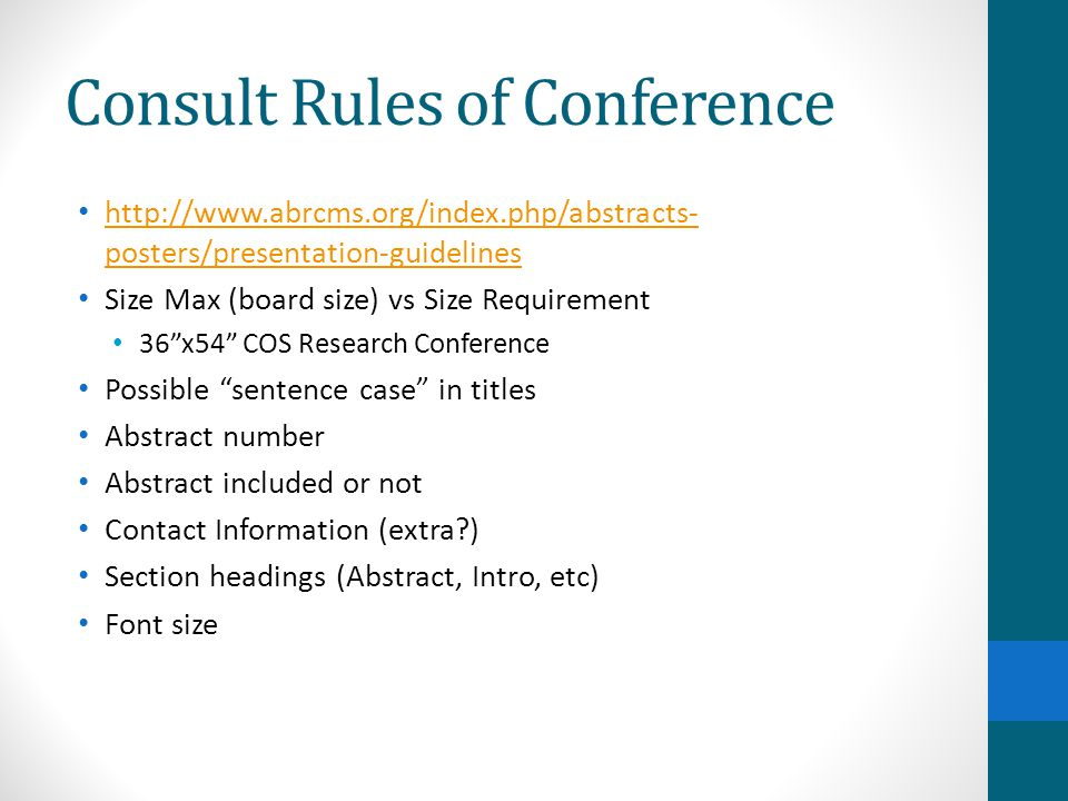 Consult Rules of Conference