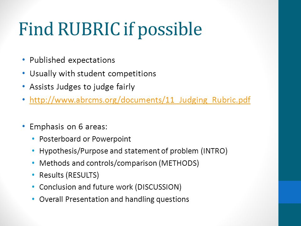 Find RUBRIC if possible