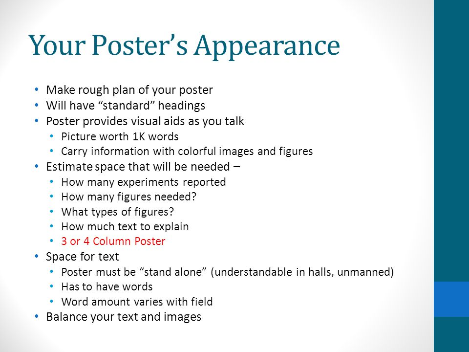 Your Poster's Appearance