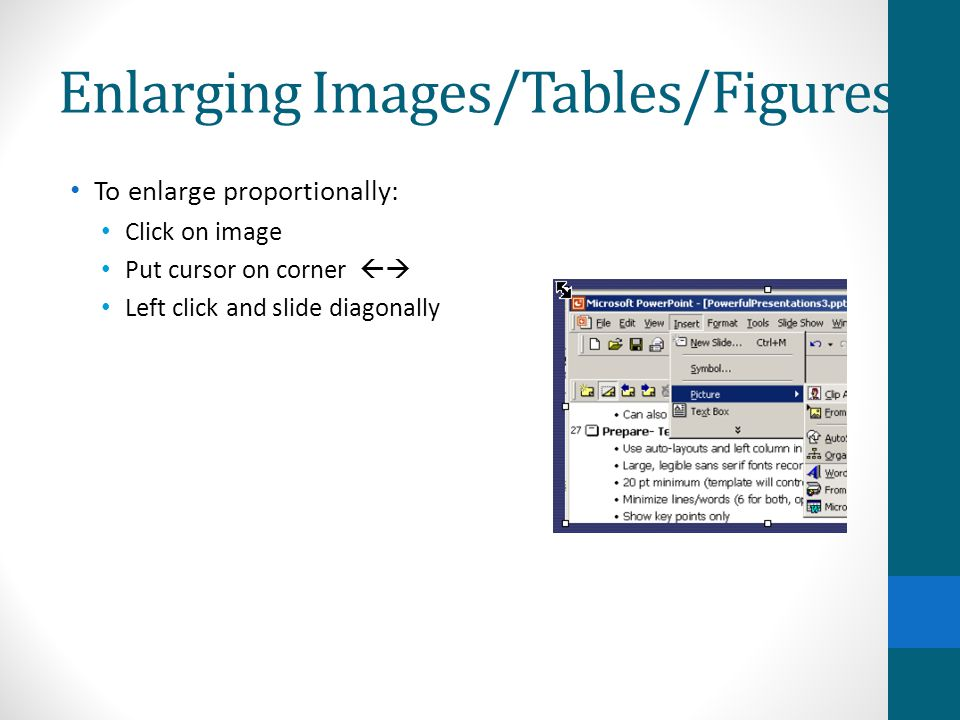 Enlarging Images/Tables/Figures