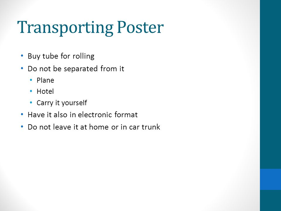 Transporting Poster Buy tube for rolling Do not be separated from it