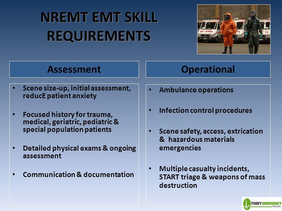 NREMT EMT SKILL REQUIREMENTS