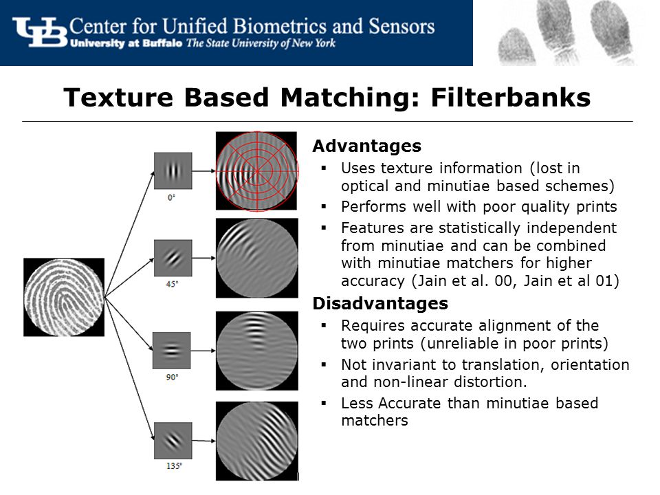 Texture Based Matching: Filterbanks