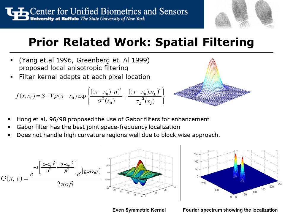Prior Related Work: Spatial Filtering