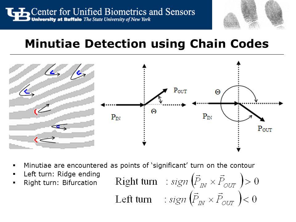 Minutiae Detection using Chain Codes