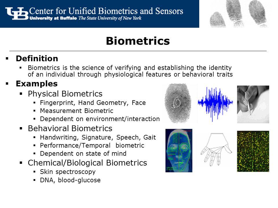 Biometrics Definition Examples Physical Biometrics
