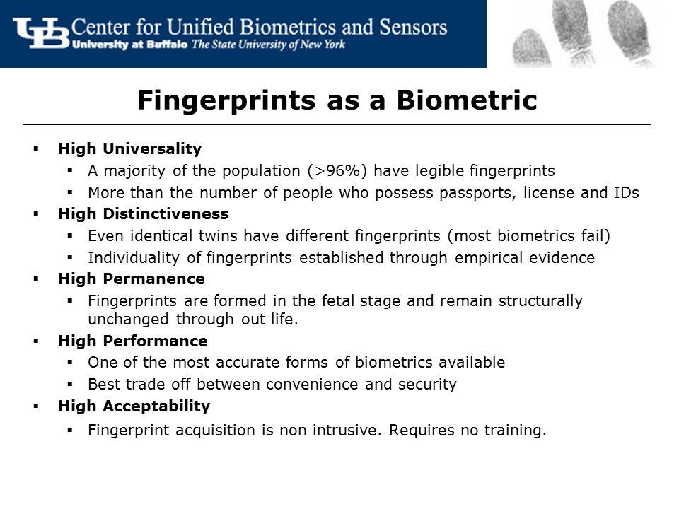 Fingerprints as a Biometric