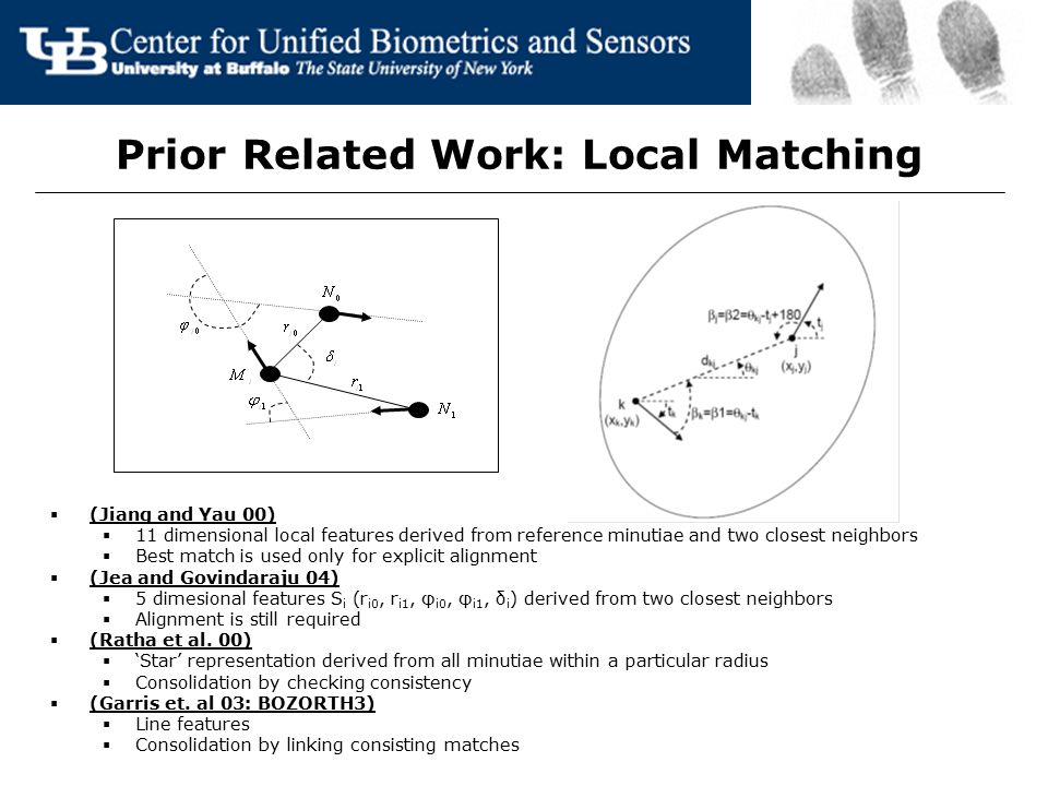 Prior Related Work: Local Matching