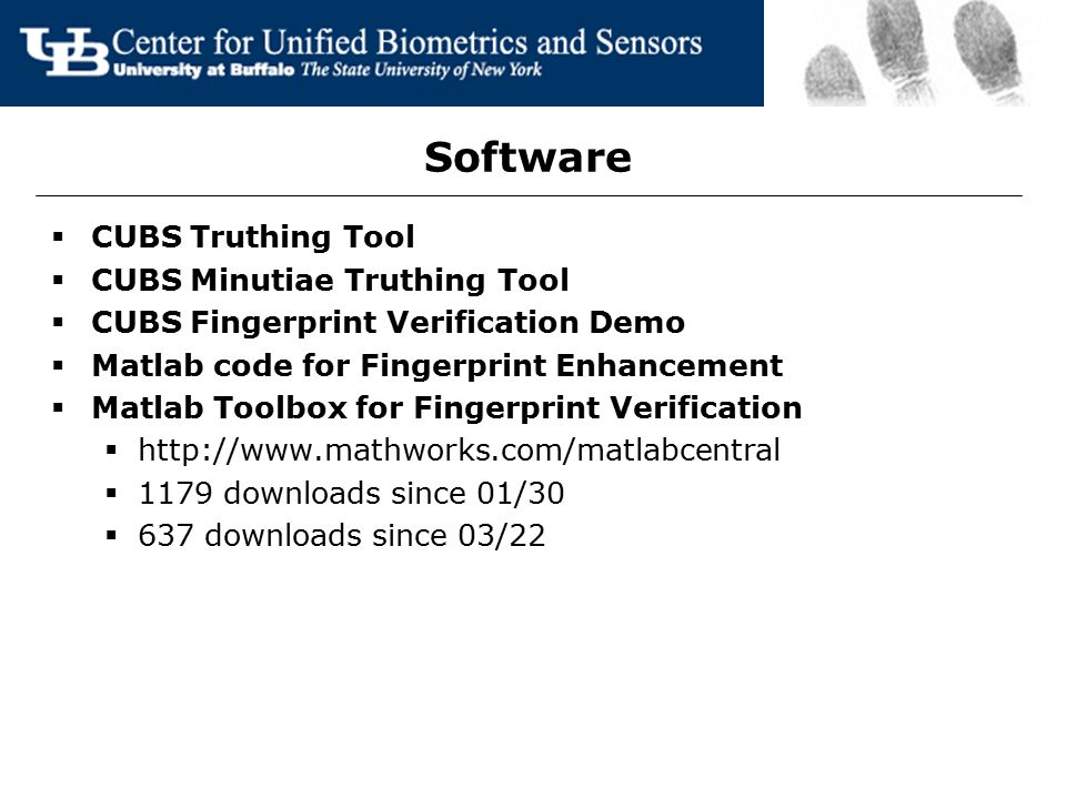 Software CUBS Truthing Tool CUBS Minutiae Truthing Tool
