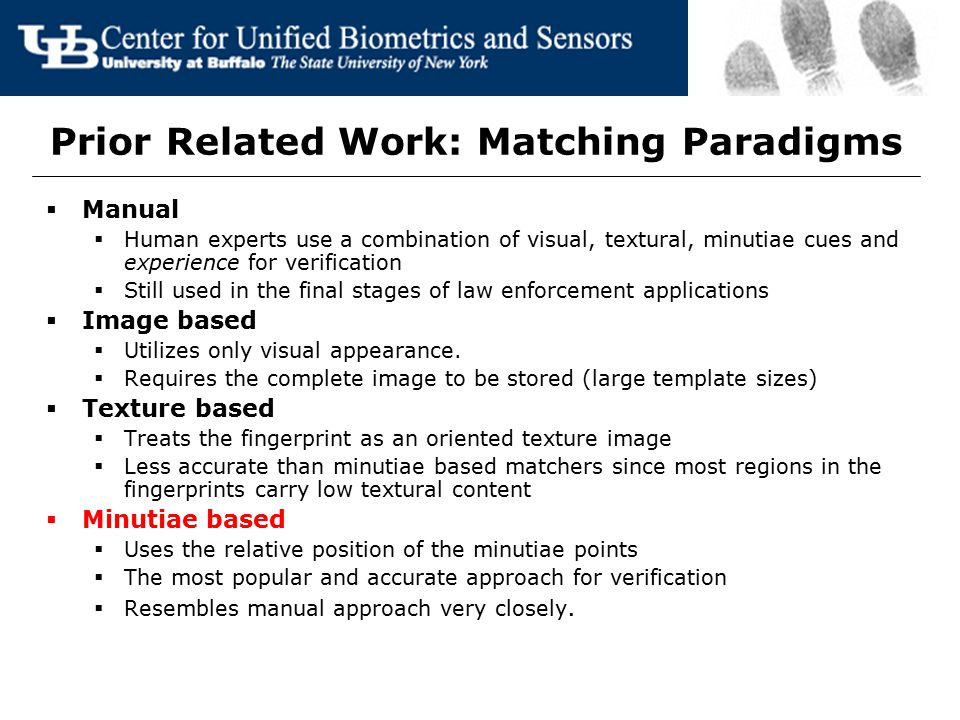 Prior Related Work: Matching Paradigms