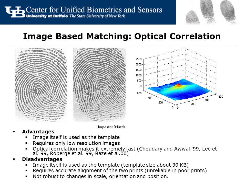 Image Based Matching: Optical Correlation