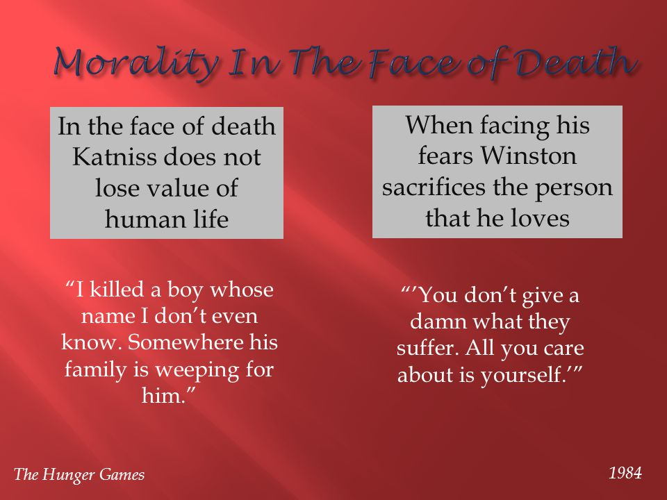 Morality In The Face of Death