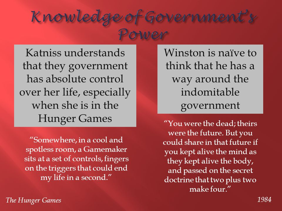 Knowledge of Government's Power