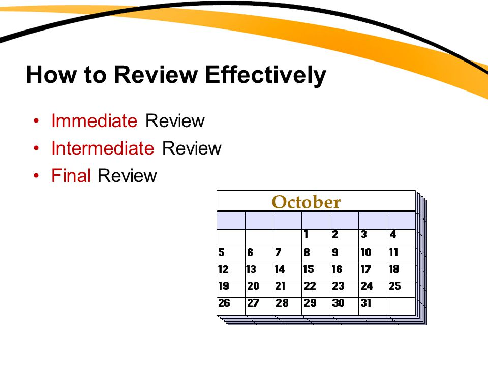 How to Review Effectively