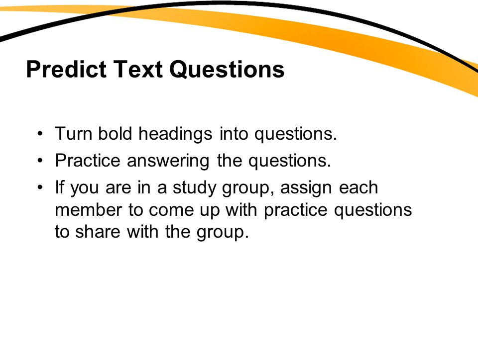 Predict Text Questions