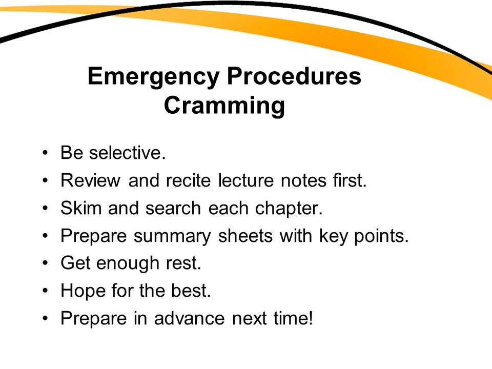 Emergency Procedures Cramming