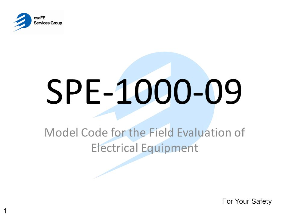Model Code for the Field Evaluation of Electrical Equipment