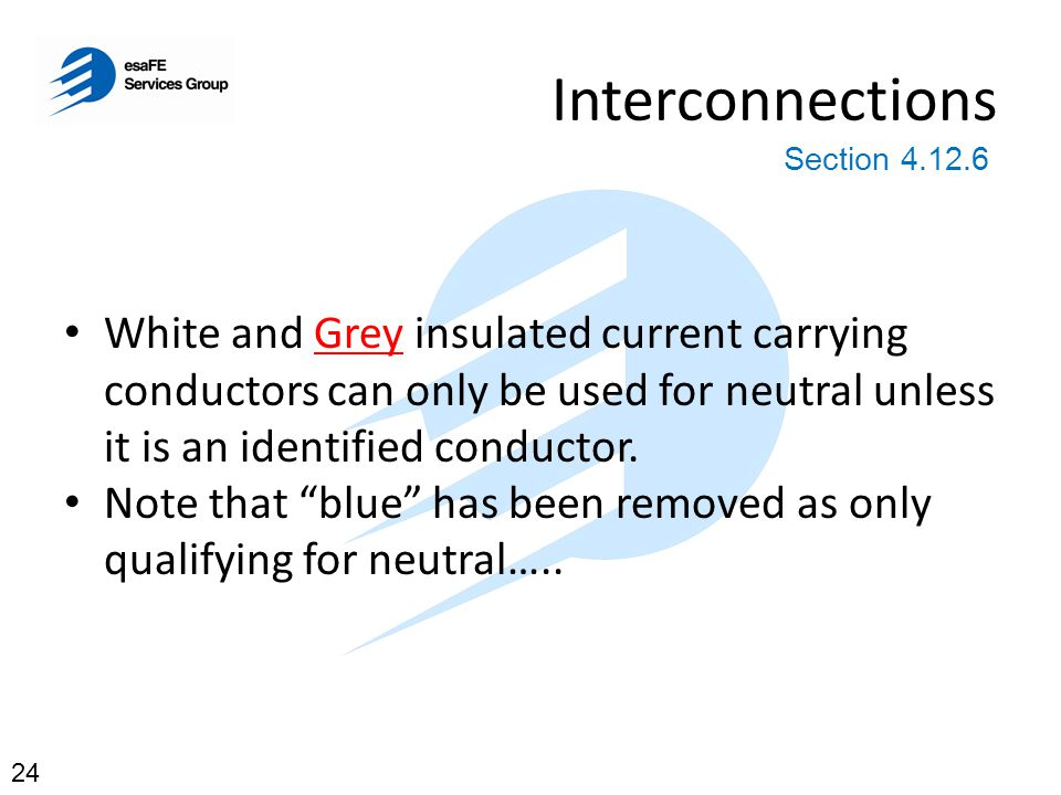 Interconnections Section 4.12.6.