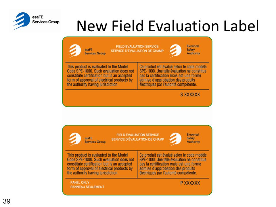 New Field Evaluation Label