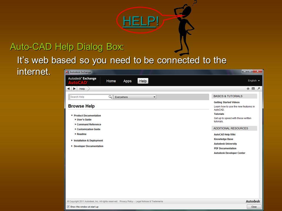 HELP! Auto-CAD Help Dialog Box:
