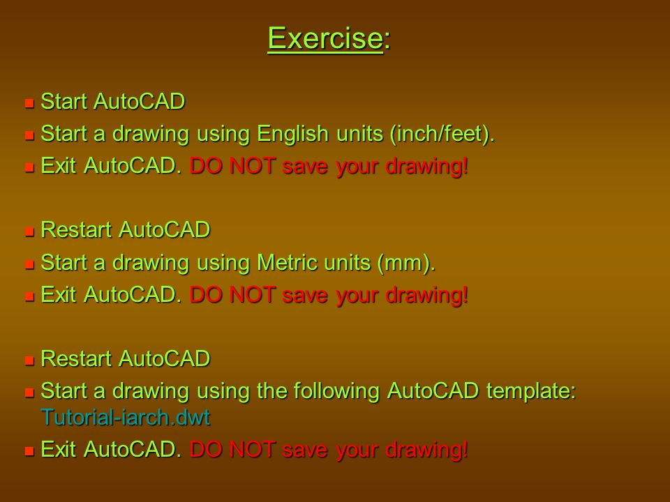 Exercise: Start AutoCAD