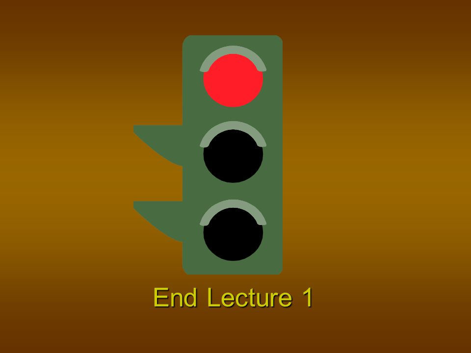 End Lecture 1