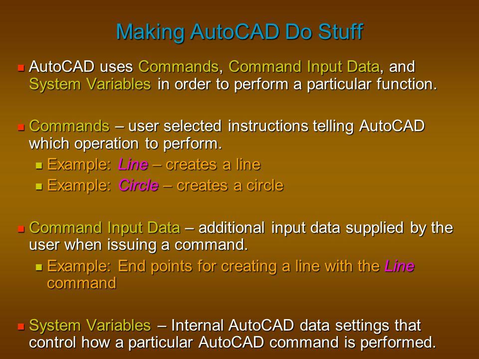 Making AutoCAD Do Stuff