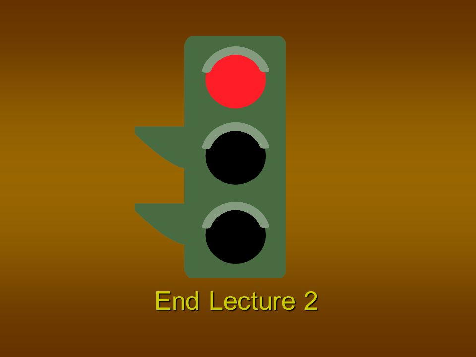 End Lecture 2