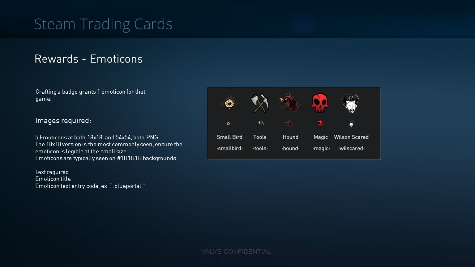 Steam Trading Cards Rewards - Emoticons Images required: