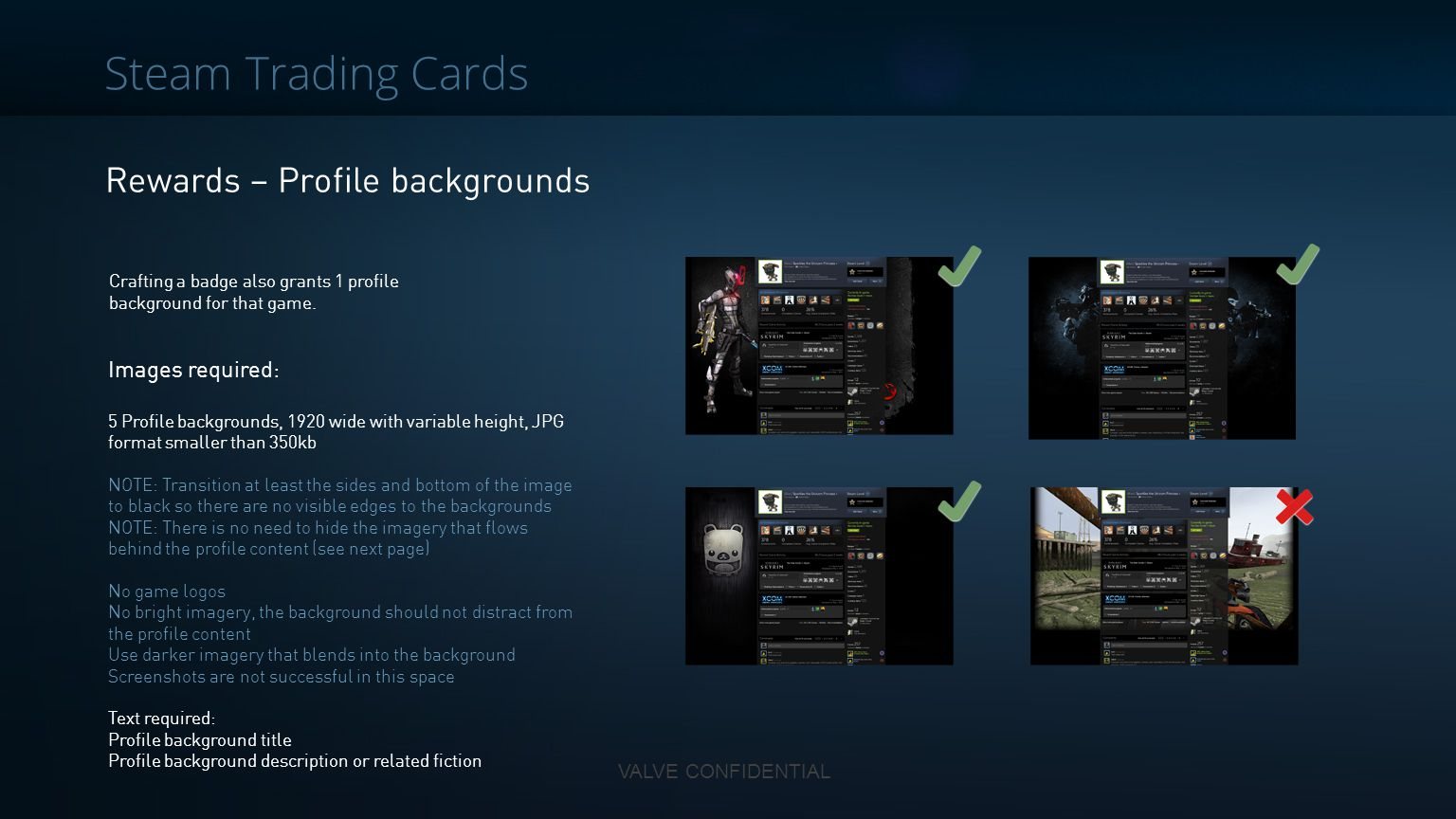 Steam Trading Cards Rewards – Profile backgrounds Images required: