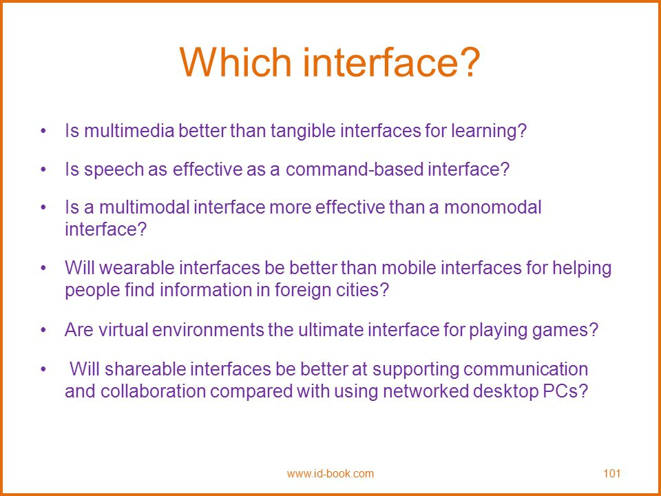 Which interface Is multimedia better than tangible interfaces for learning Is speech as effective as a command-based interface