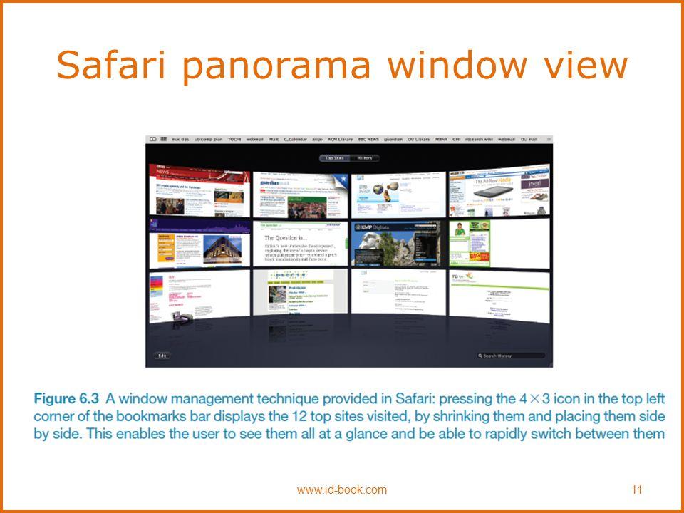 Safari panorama window view