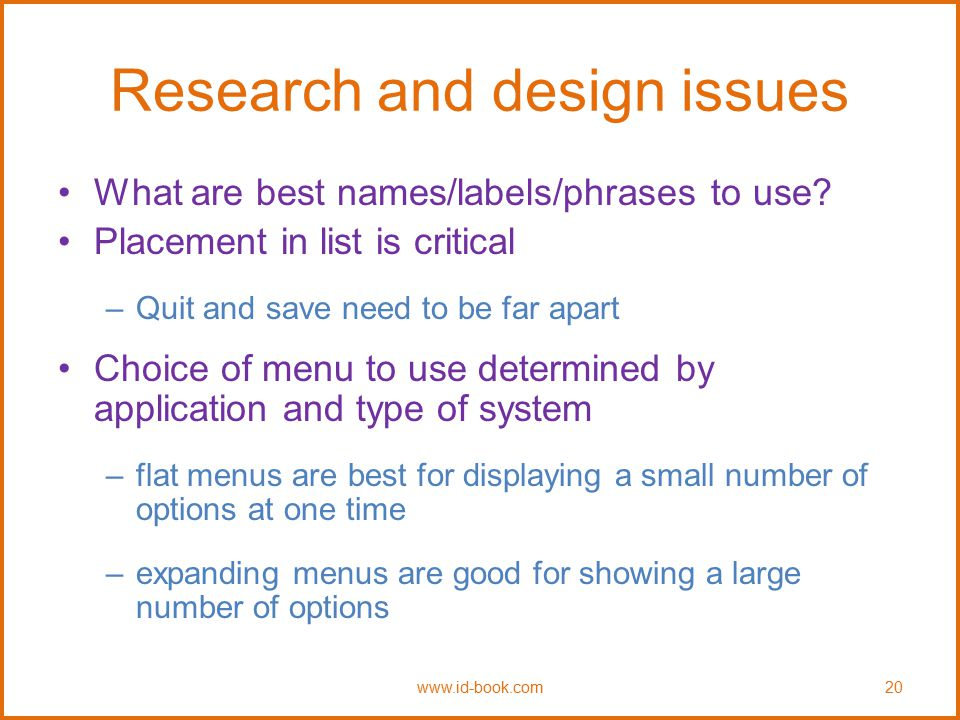 Research and design issues