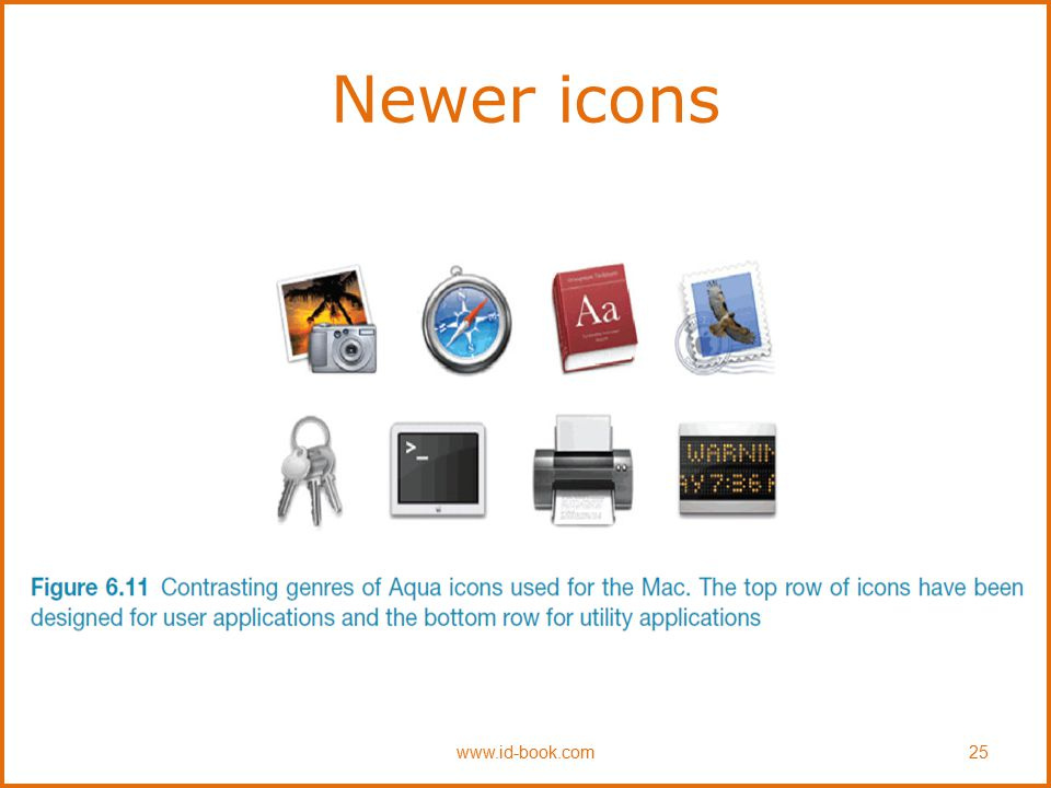 Newer icons www.id-book.com 25