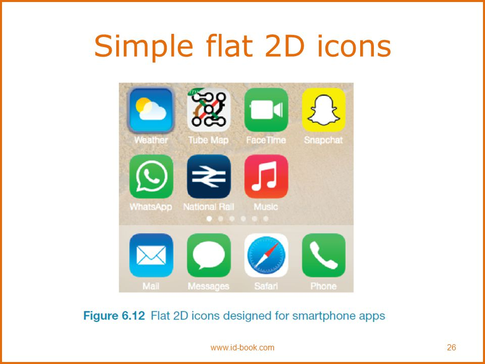 Simple flat 2D icons www.id-book.com 26
