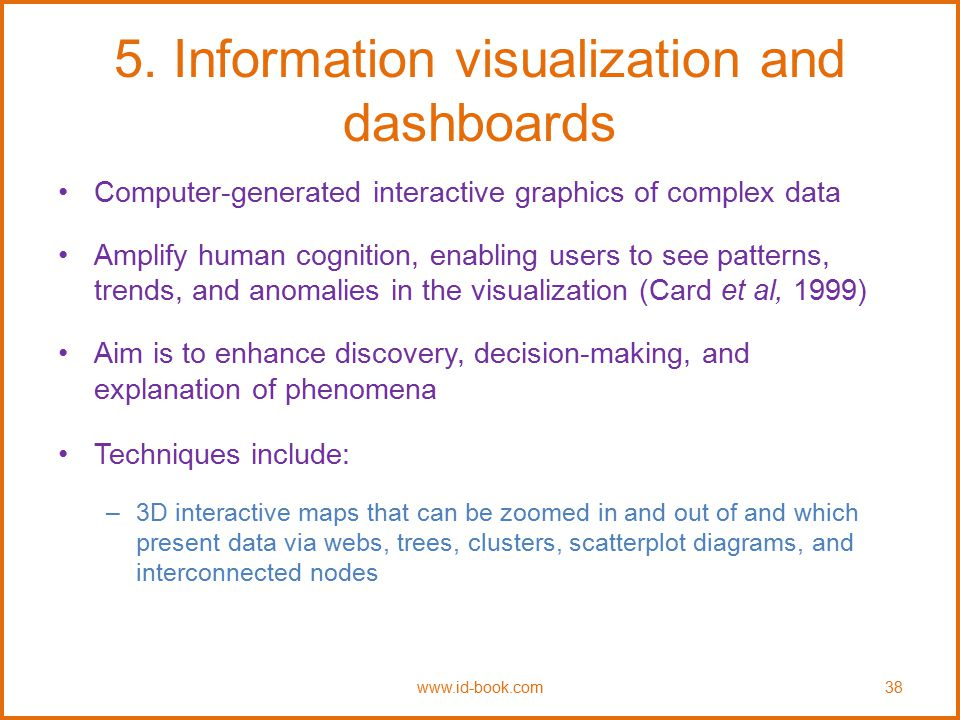 5. Information visualization and dashboards