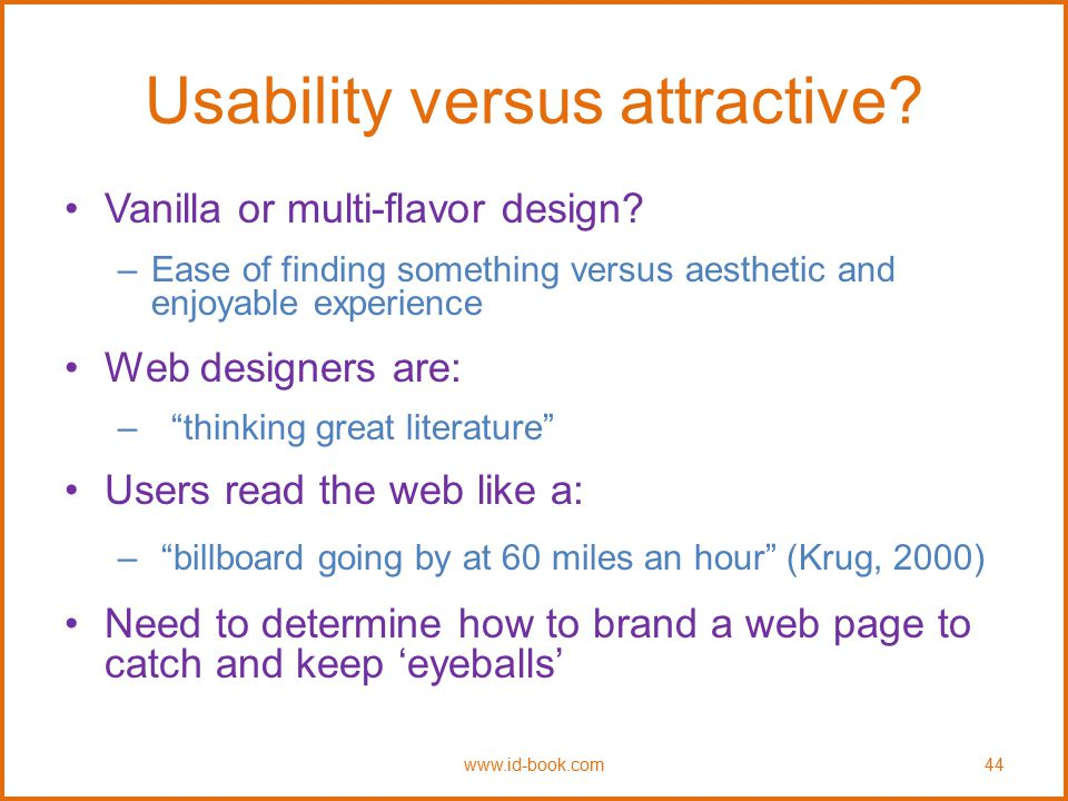 Usability versus attractive