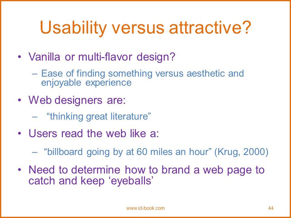 Usability versus attractive