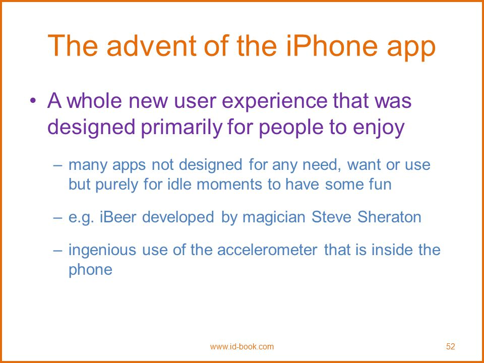 The advent of the iPhone app