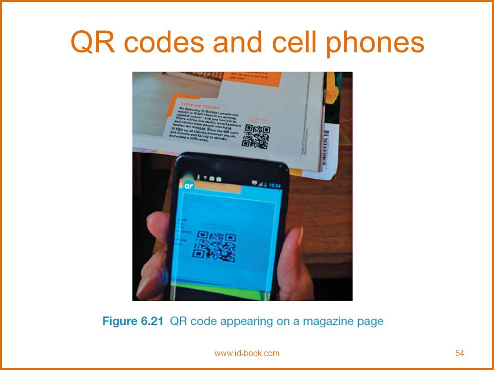 QR codes and cell phones