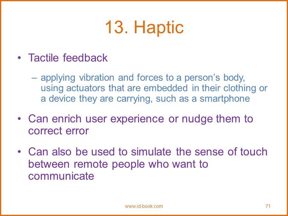 13. Haptic Tactile feedback